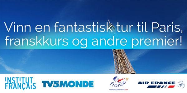 Vinn en fantastisk tur til Paris, franskkurs og andre premier!